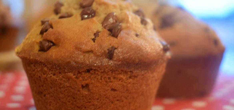 muffins à la farine d'épeautre, au miel de sapin et aux pépites de chocolat